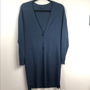 Theory Cashmere Cardigan Duster Sweater  Small